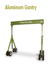 Aluminum Gantries Rental | Hoisting Equipment