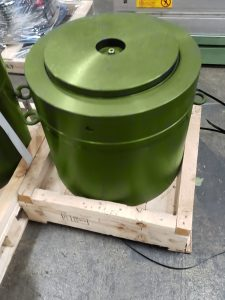 Back of the brand new 800-Ton Lock Nut Cylinder