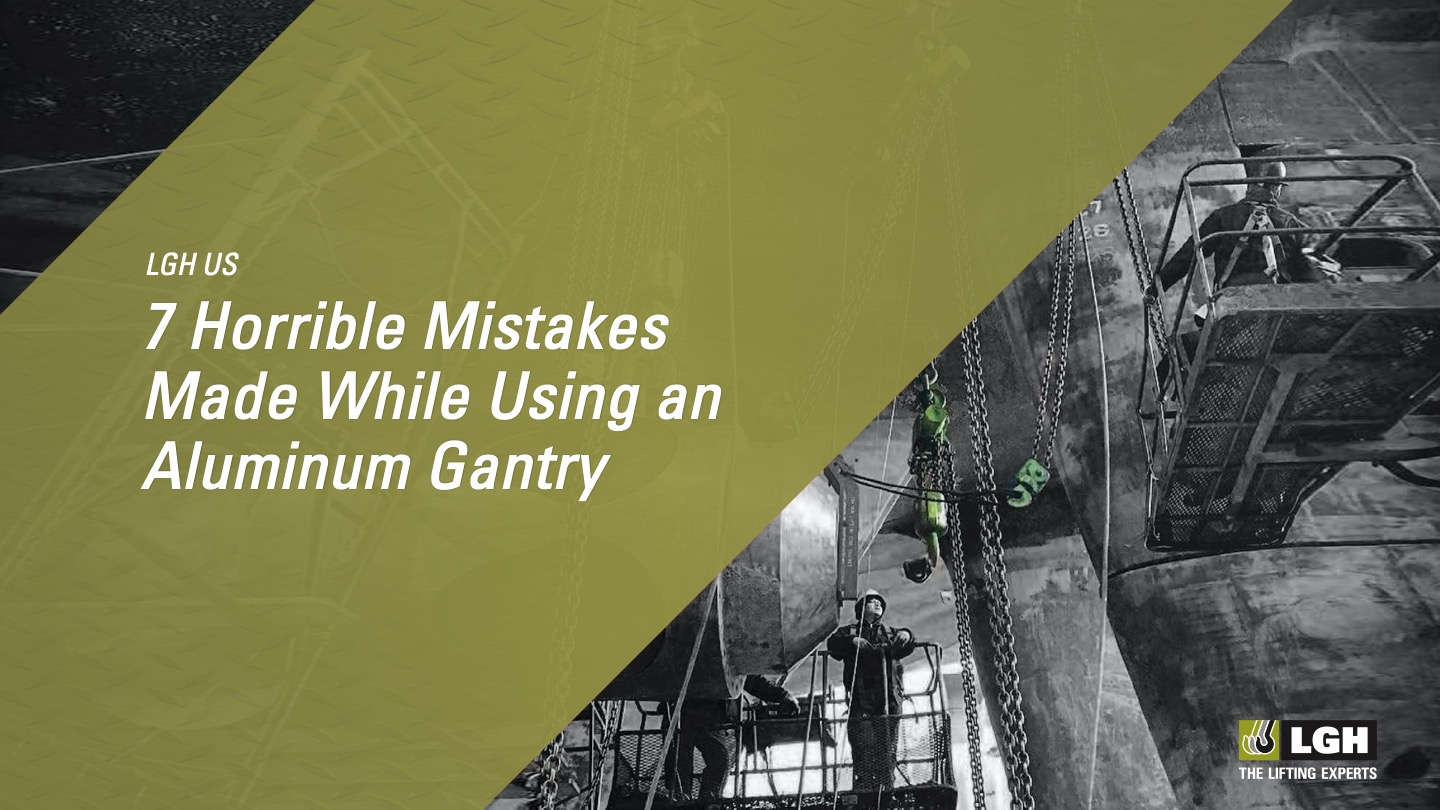 7 Horrible Mistakes Made While Using an Aluminum Gantry